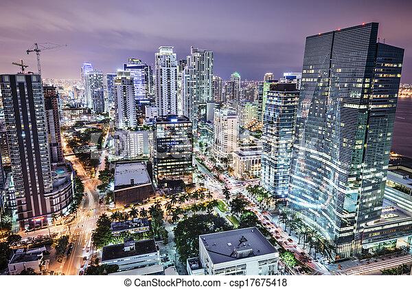 El horizonte de Miami - csp17675418