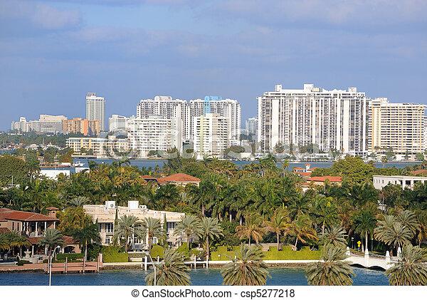 El horizonte de Miami - csp5277218