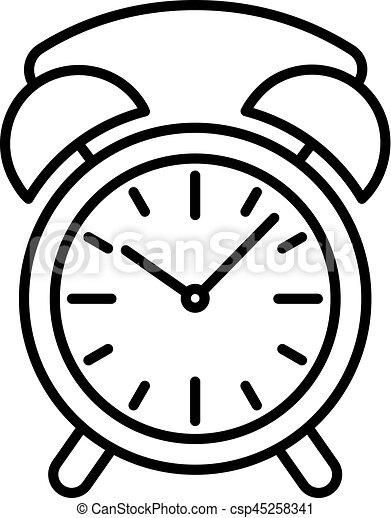 Horloge reveil illustration vecteur arri re plan noir - Dessin reveil ...