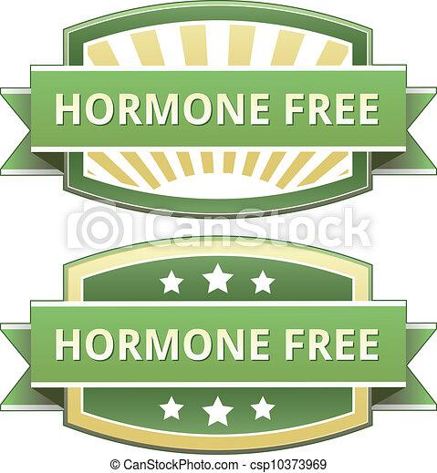 Hormone free food label - csp10373969