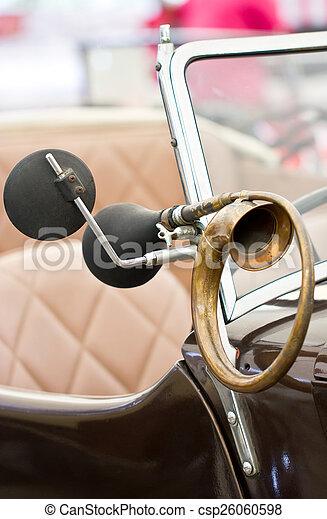 Horn of a classical car. - csp26060598