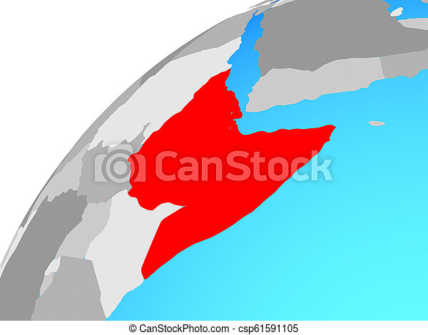 Horn of Africa on globe - csp61591105