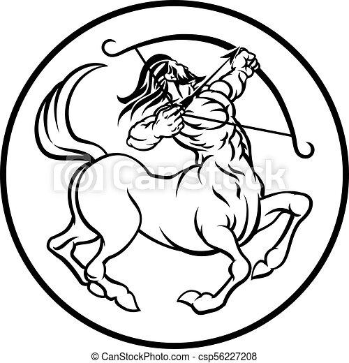 Horoscope Sagittarius Centaur Zodiac Sign - csp56227208