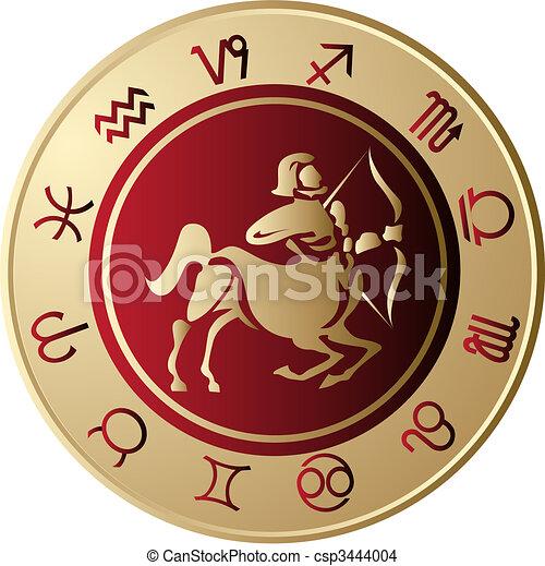 Horoscope Sagittarius - csp3444004