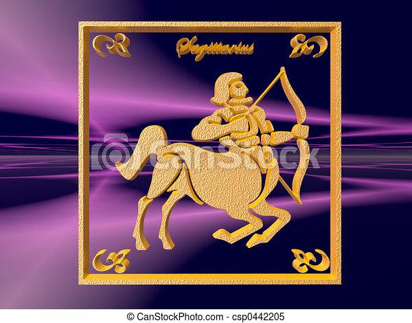 Horoscope, Sagittarius - csp0442205