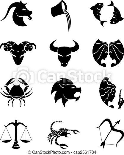 horoscopes silhouettes - csp2561784