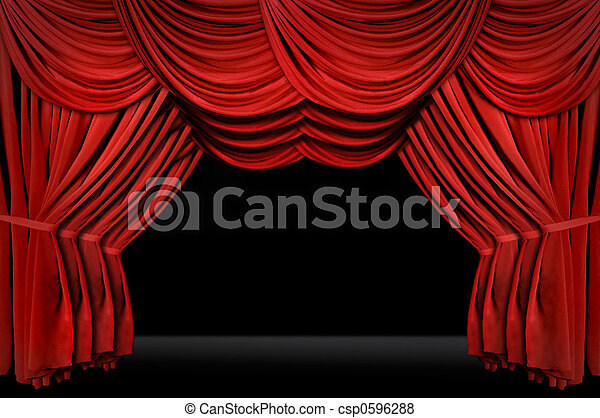 Horozontal old fashioned elegant theater stage  - csp0596288