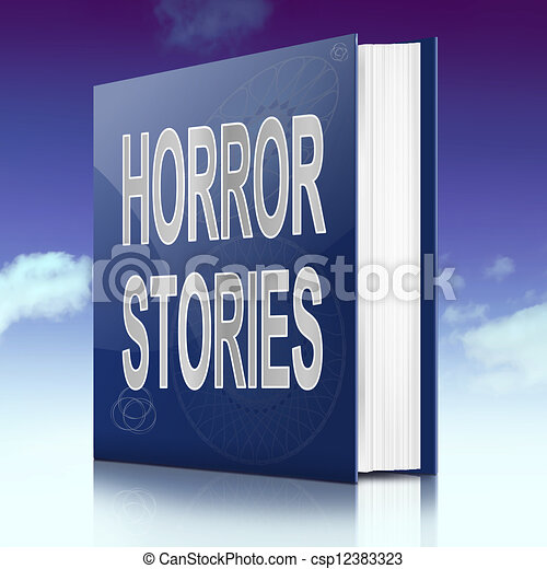 Horreur Stories Concept Horreur Ciel Illustration