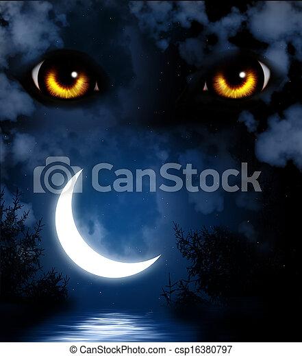 Horror en la noche - csp16380797