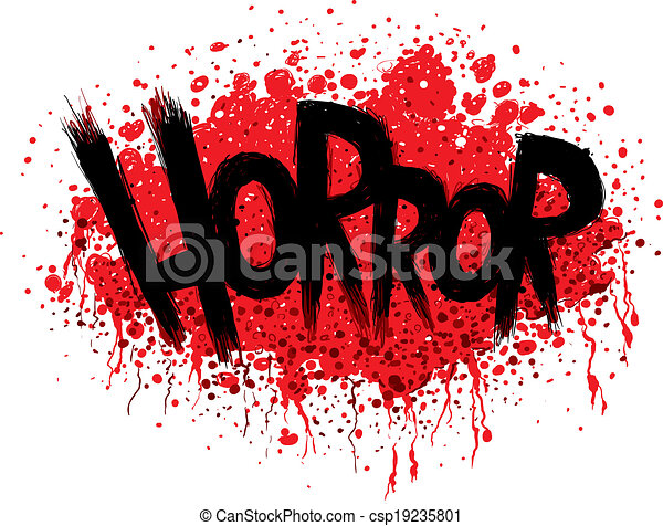 Horror Text - csp19235801