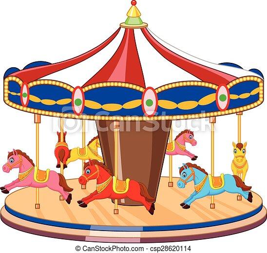 Hors carrousel dessin anim color chevaux color - Dessin colore ...
