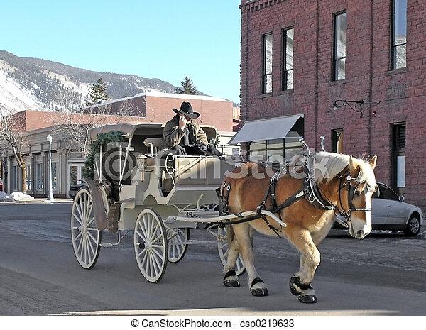 horse and cart - csp0219633