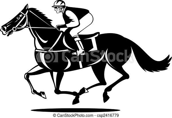 Race Horse Stock Illustration Images 11864 Race Horse
