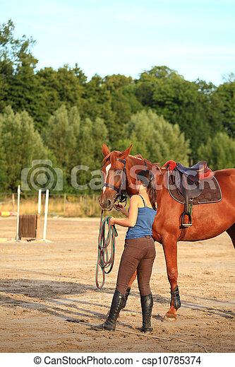 horse and rider - csp10785374