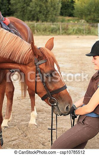 horse and rider - csp10785512