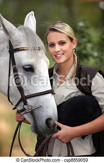 Horse and rider - csp8859059