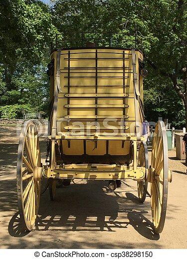 Horse Carriage in Sturbridge, MA - csp38298150
