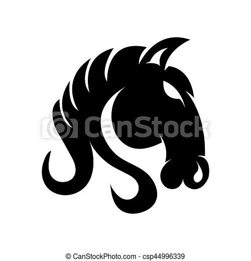 Horse Creative Logo Design Isolated On White Background