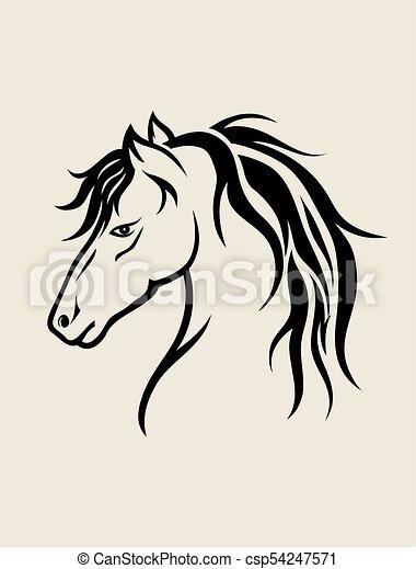 Horse Face Art Vector Design