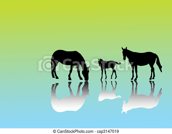 horse group - csp3147019