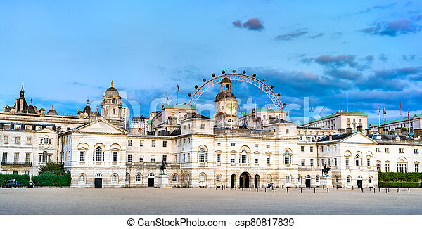 Horse Guards building in the City of Westminster, London - csp80817839