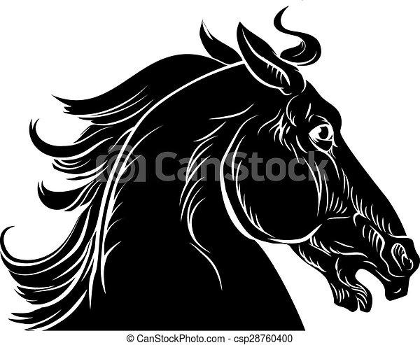 Horse head illustration - csp28760400