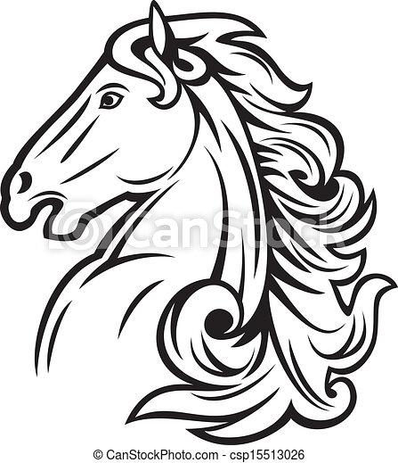 horse head mustang head beautiful horse vector illustration rh canstockphoto com horse head vector free download horse head vector free download
