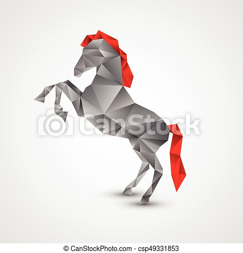 Horse isolated on a white background - csp49331853