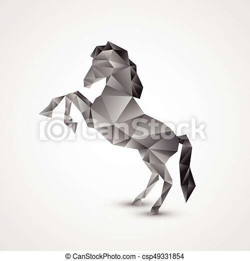 Horse isolated on a white background - csp49331854