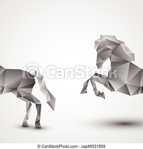 Horse isolated on a white background - csp49331859