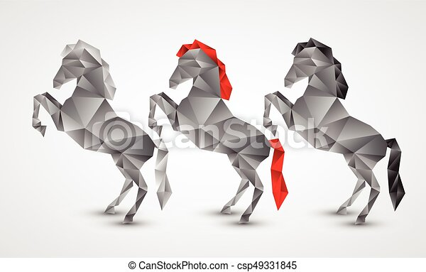 Horse isolated on a white background - csp49331845