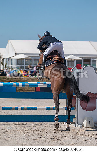 horse jumping competition - csp42074051