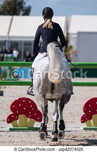 horse jumping competition - csp42074028