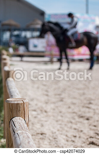 horse jumping competition - csp42074029