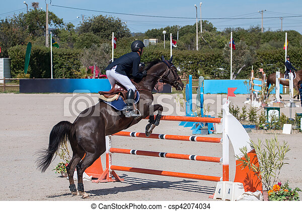 horse jumping competition - csp42074034