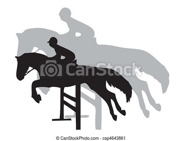 Horse jumping - csp4643861