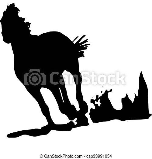 horse, logo - csp33991054