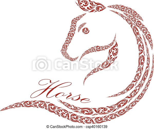horse logo design - csp40160139