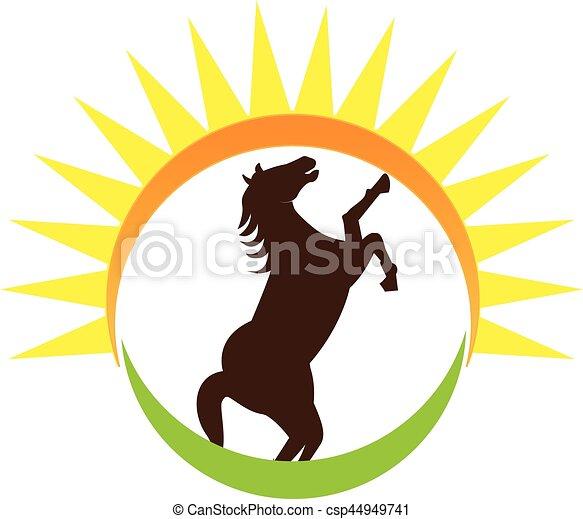 Horse logo - csp44949741