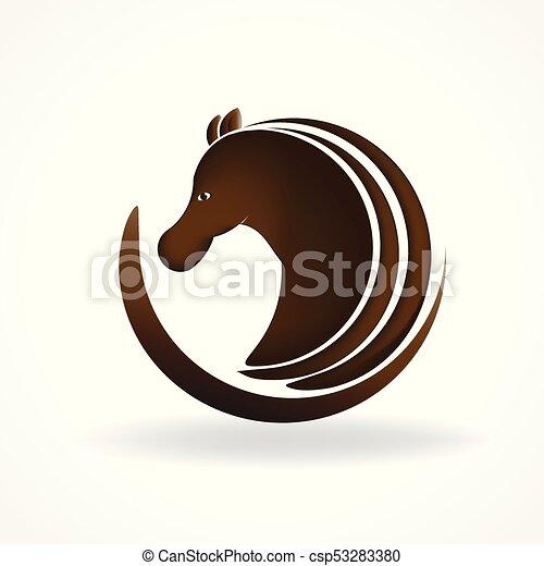 Horse logo - csp53283380
