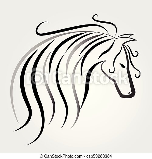 Horse logo - csp53283384