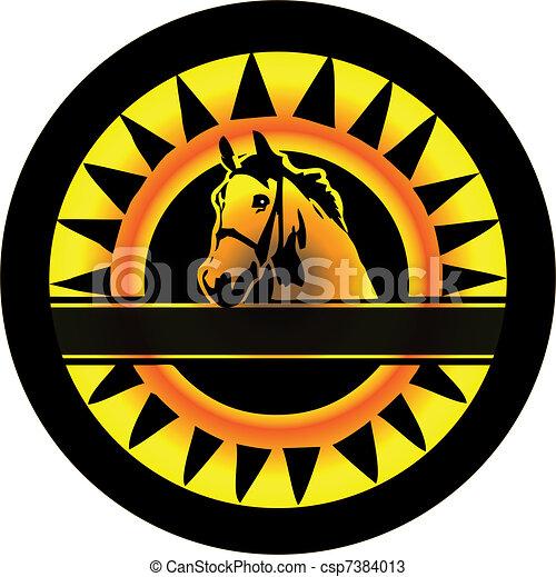 Horse Logo - csp7384013