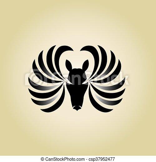 horse logo - csp37952477