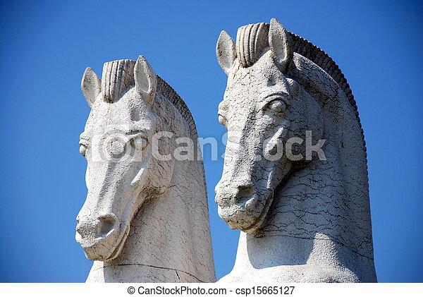 horse monument in CCB - csp15665127