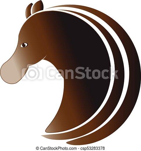 Horse profile logo - csp53283378