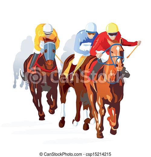 Horse Race Finish - csp15214215