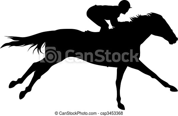 horse racing abstract vector illustration of horce and rider rh canstockphoto com horse race clipart horse race clipart
