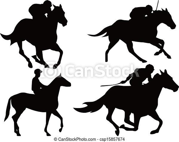 Horse racing game - csp15857674
