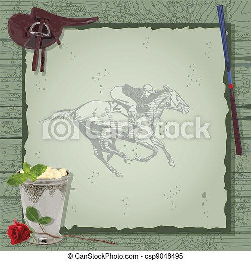 Horse Racing Party Invitation.  - csp9048495