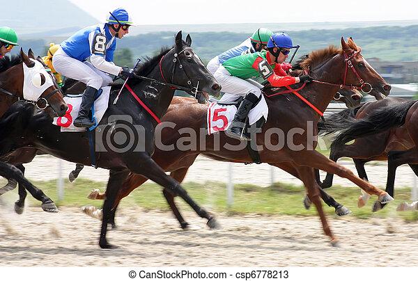 Horse racing. - csp6778213